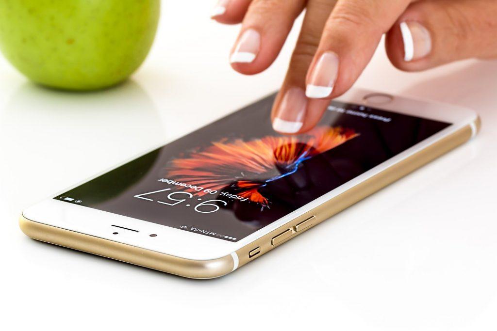 スマートフォンでLINE
